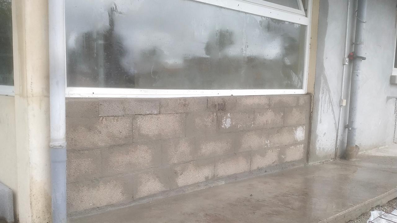 Création mur chantier Arcachon