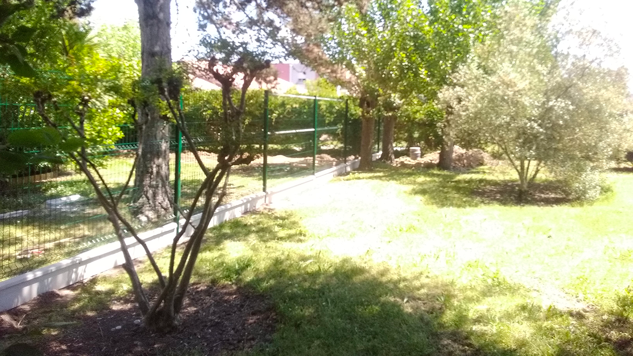 Pose clôture